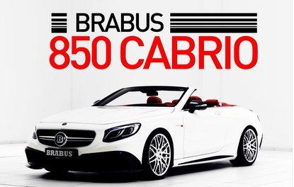 BRABUS 850 CABRİO ORTAYA ÇIKTI
