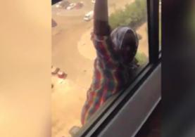 Kuveyt'te patronun düşerken kameraya aldığı hizmetli konuştu: Beni öldürecekti