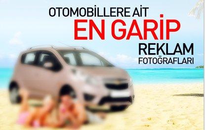 Otomobillere ait en garip reklam fotoğrafları