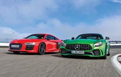KARŞILAŞTIRMA · Audi R8 V10 plus, Mercedes-AMG GT R