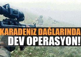 Karadeniz dağlarında dev operasyon