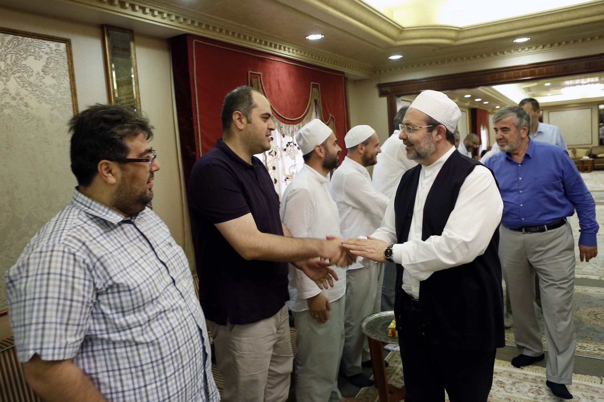 Speaking at Hajj Administrative Center in Mecca, Mehmet Gu00f6rmez, the head of the Religious Affairs Directorate, congratulated Muslims in Mecca, Saudi Arabia on Sept. 13, 2016. (AA Photo)