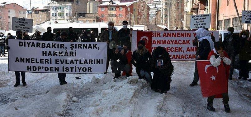 KURDISH FAMILIES RALLY IN HAKKARI TO STAGE ANTI-PKK PROTEST