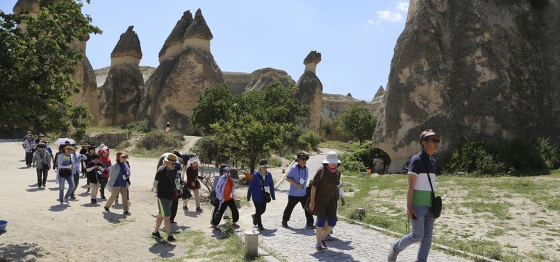 THOUSANDS OF CHINESE TOURISTS FLOCK TO TURKEYS CAPPADOCIA