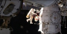 ISS astronauts on 8-hour spacewalk, investigating hole in Soyuz craft