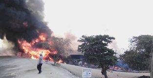 Fuel tanker fire kills over 20 people in western Uganda