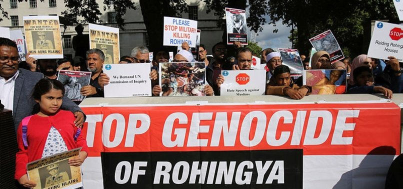 DEMONSTRATORS IN UKS LONDON CONDEMN ATROCITIES AGAINST ROHINGYA MUSLIMS
