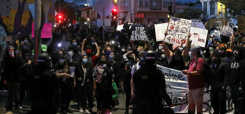 US: PROTESTS RAGE FOR FOURTH DAY OVER FLOYD 'S DEATH