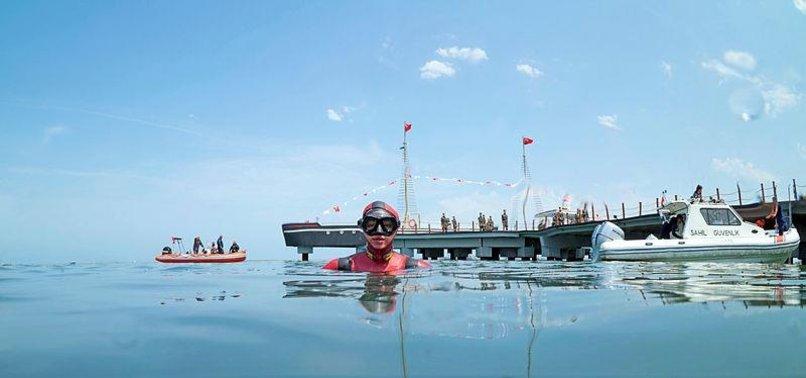 TURKISH DIVERS RESCUE DOLPHIN IN BLACK SEA