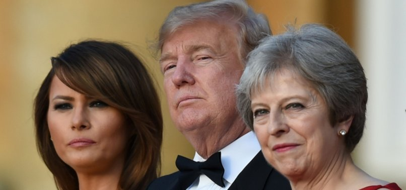 UK PM MAY ROLLS OUT RED CARPET FOR TRUMP AS LONDON PROTESTS