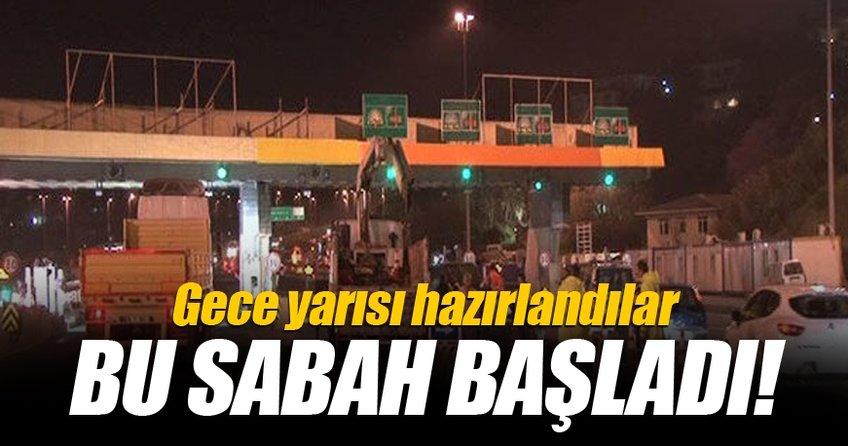 15 Temmuz Şehitler Köprüsü'nde serbest geçiş çalışmaları bu sabah başladı