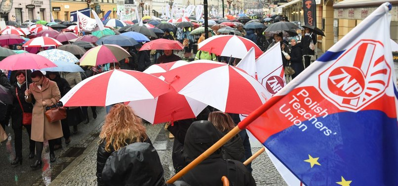 POLISH TEACHERS GO ON STRIKE OVER PAY, CANCELING CLASSES