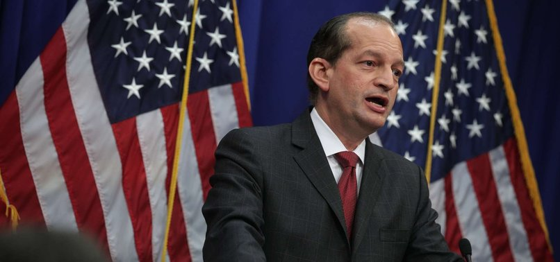 US LABOR SECRETARY ANNOUNCES RESIGNATION OVER EPSTEIN AFFAIR