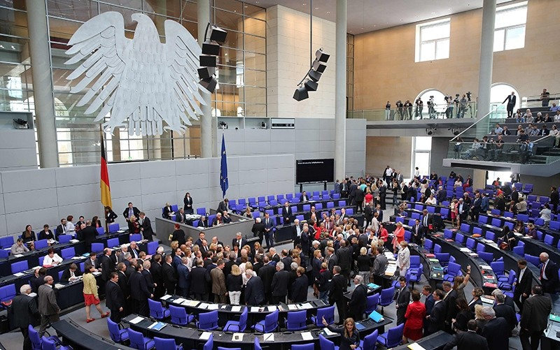German parliament votes on draft law entitled ,improving the protection of sexual self-determination,, in Berlin, on July 7, 2016 (AFP Photo)