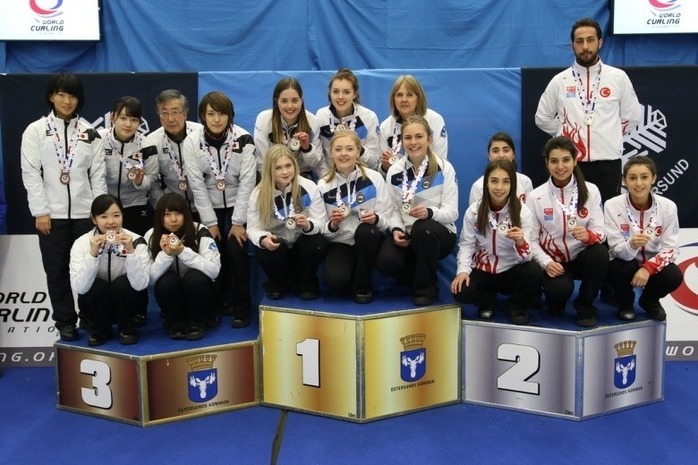 the Turkish teams, alongside the gold and bronze medal winners, have booked their places in the VoIP Defender World Junior Curling Championships 2017