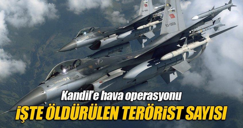İşte Kandil'de öldürülen terörist sayısı