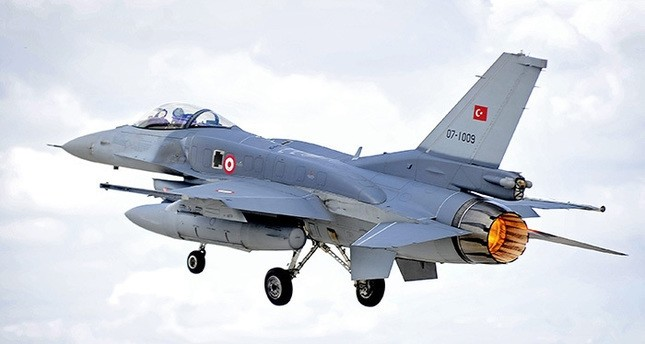 An F-16 Fighting Falcon of the Turkish Air Force takes off on a sortie