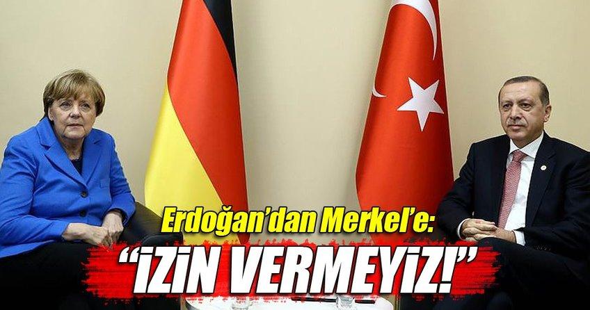 Cumhurbaşkanı Erdoğan Merkel ile bir araya geldi