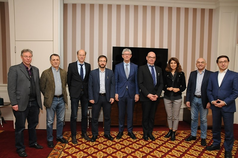 The Sabah Columnist-Club gathered at a brunch event with media reps in Berlin to discuss Turkey-German relations. (SABAH Photo)