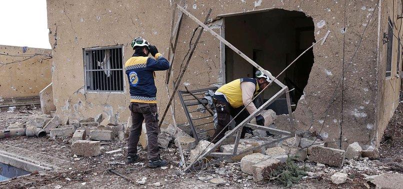 RUSSIAN AIR STRIKES KILL 4 CIVILIANS IN SYRIAS IDLIB
