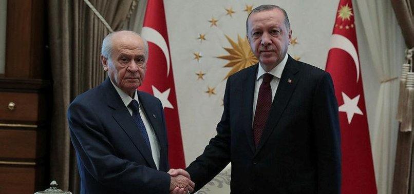 TURKISH PRESIDENT, OPPOSITION MHP LEADER MEET IN ANKARA