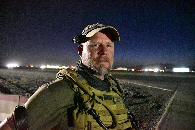 This May 29, 2016, photo shows David Gilkey, a veteran news photographer and video editor for National Public Radio photographer, at Kandahar Airfield in Afghanistan. (AP)