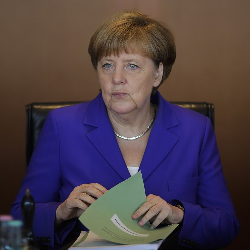 German Chancellor Angela Merkel attends the weekly cabinet meeting at the chancellery in Berlin. June 2016. (AP Photo)
