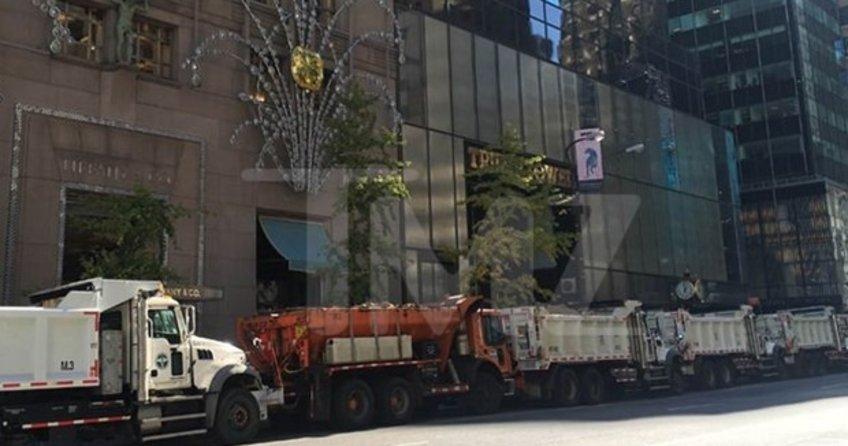 Trump'a kum yüklü kamyonlarla güvenlik önlemi alındı