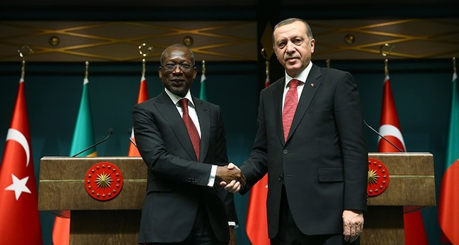 Turkish President Erdoğan meets Benin President Patrice Talon in the Presidential Complex in Ankara on Dec. 6, 2016. (AA Photo)