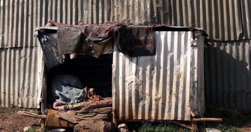 Etiyopyada yoksulların yeni yaşam alanı teneke evler