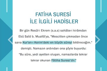 Kur'an'ın mukaddimesi: Fatiha Suresi