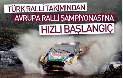 Türk ralli takımından Avrupa Ralli Şampiyonası'na hızlı başlangıç