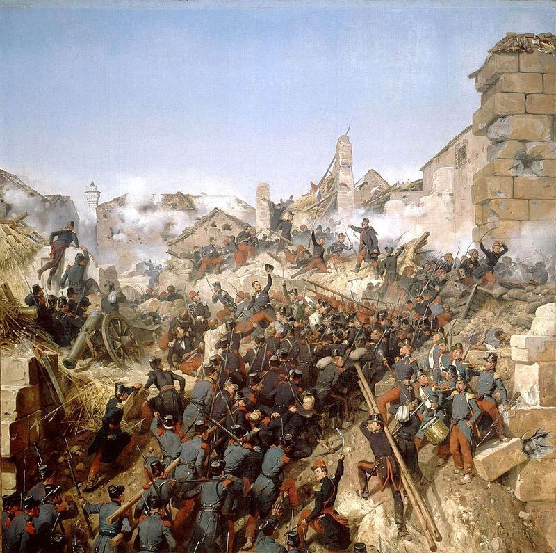The capture of Constantine by French troops in 1837.