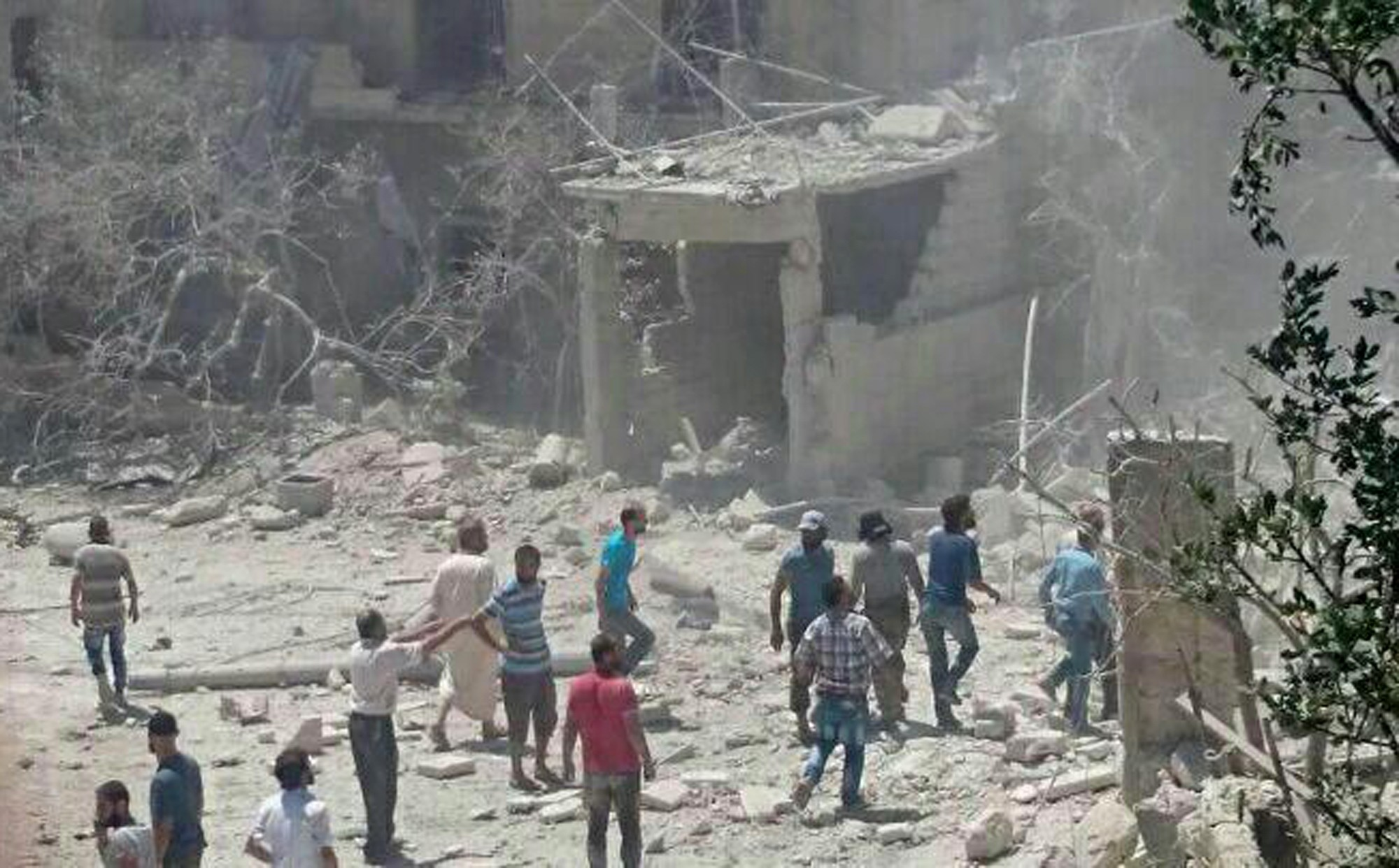This image released by Save The Children shows a maternity hospital it supports in an opposition-held Idlib in northern Syria after it was bombed. (AP Photo)