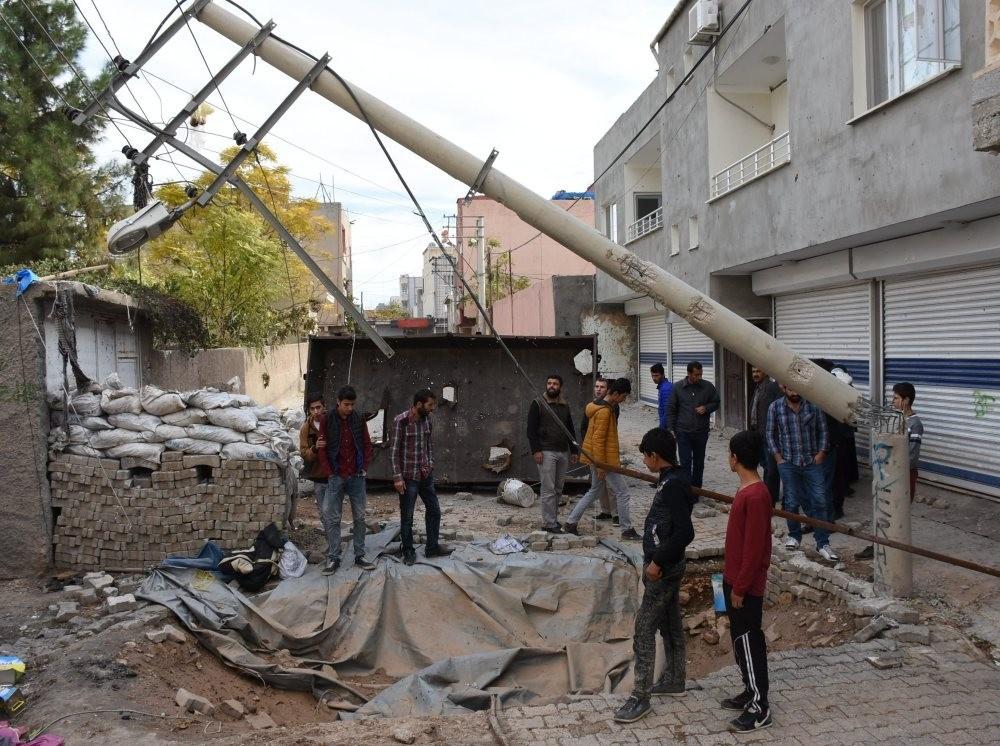A barricade erected by PKK terrorists.