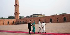 William and Kate play cricket and tour mosque in Lahore
