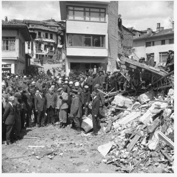 The 1942 earthquake in Niksar, Tokat.