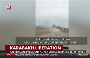 Azerbaijani leader Aliyev pays a visit to liberated areas in Upper Karabakh