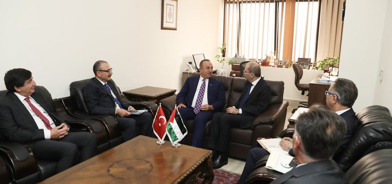 TURKISH FM ÇAVUŞOĞLU MEETS WITH FOREIGN MINISTERS OF PALESTINE, JORDAN
