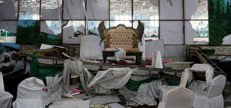 AFGHAN OFFICIALS: SUICIDE ATTACK AT WEDDING HALL KILLS MORE THAN 60