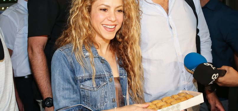 WORLD-FAMOUS SINGER SHAKIRA WELCOMED WITH BAKLAVA IN ISTANBUL