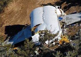 Yunanistan'da düşen uçağın enkazına ulaşıldı