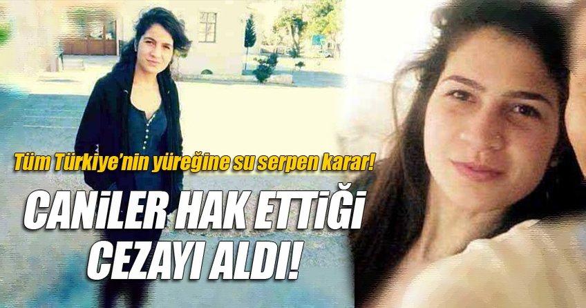 Cansu Kaya'nın katillerine müebbet ve 78 yıl hapis cezası