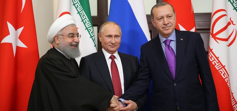 TURKEY, RUSSIA, IRAN LEADERS TO HOLD VIDEO CONFERENCE ON WEDNESDAY TO DISCUSS SYRIA ISSUE