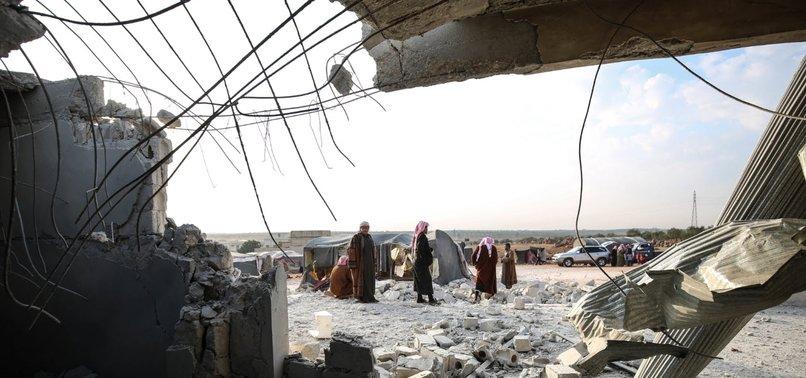 RUSSIAN AIRSTRIKES KILL CHILD IN SYRIAS IDLIB