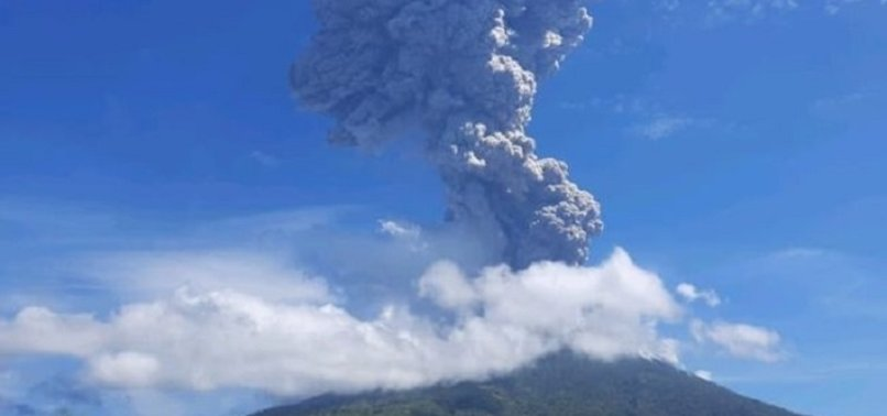 VOLCANO IN EASTERN INDONESIA ERUPTS, THOUSANDS EVACUATED