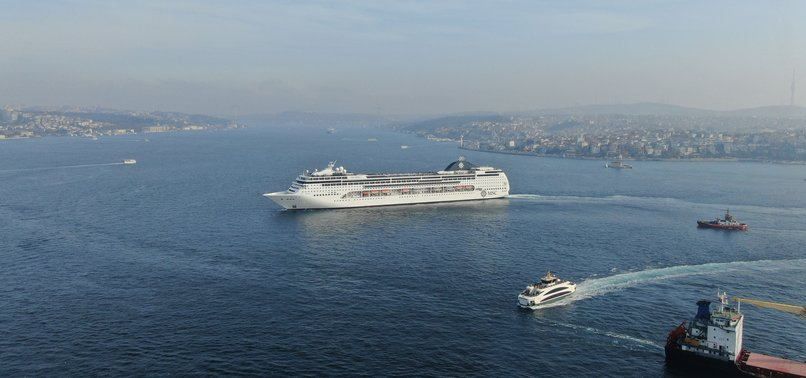 ISTANBUL WELCOMES ONE OF LARGEST CRUISE SHIPS ARRIVING IN RECENT YEARS
