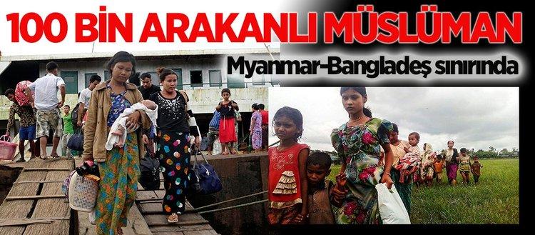 Baskılardan kaçan Arakanlı Müslümanlar Bangladeş'e geçmeye çalışıyor