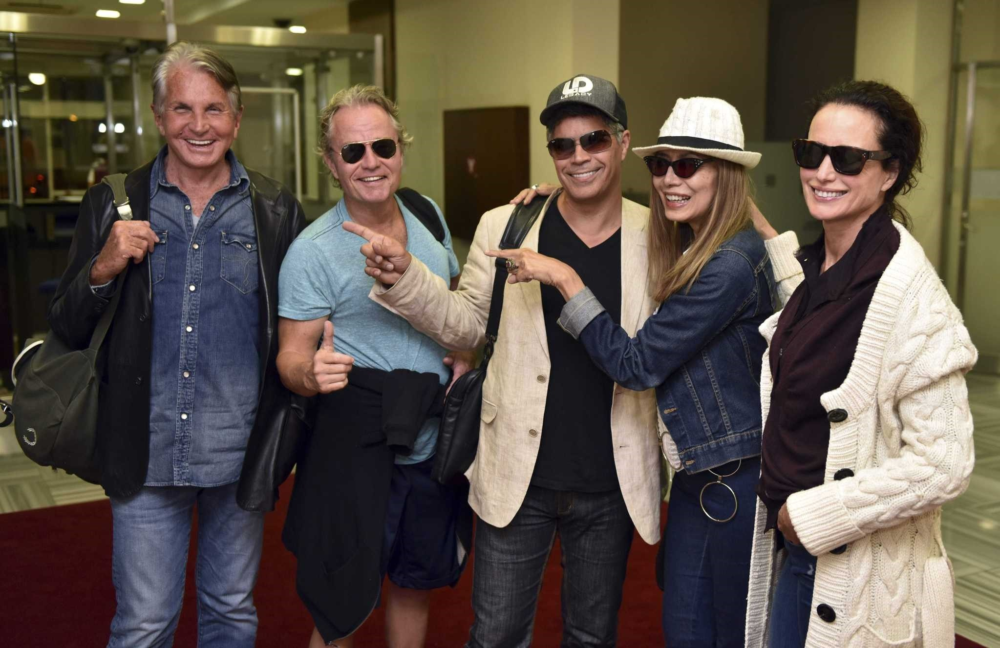 From left to right:  George Hamilton - John Savage - Esai Morales - Maria Cucinotta - Andie Macdowell