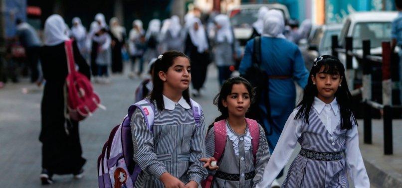 GAZA CHILDREN RETURN TO SCHOOL DESPITE VIRUS FEARS